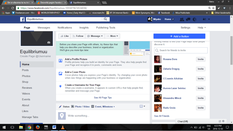 step 1-2 facebook business page setup tips