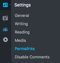 Change Permalinks and Disable Comments WordPress, wordpress set up website