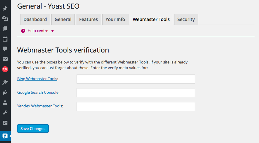 Yoast SEO and Google Webmaster Tools